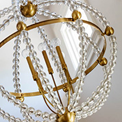 grid-chandelier detail